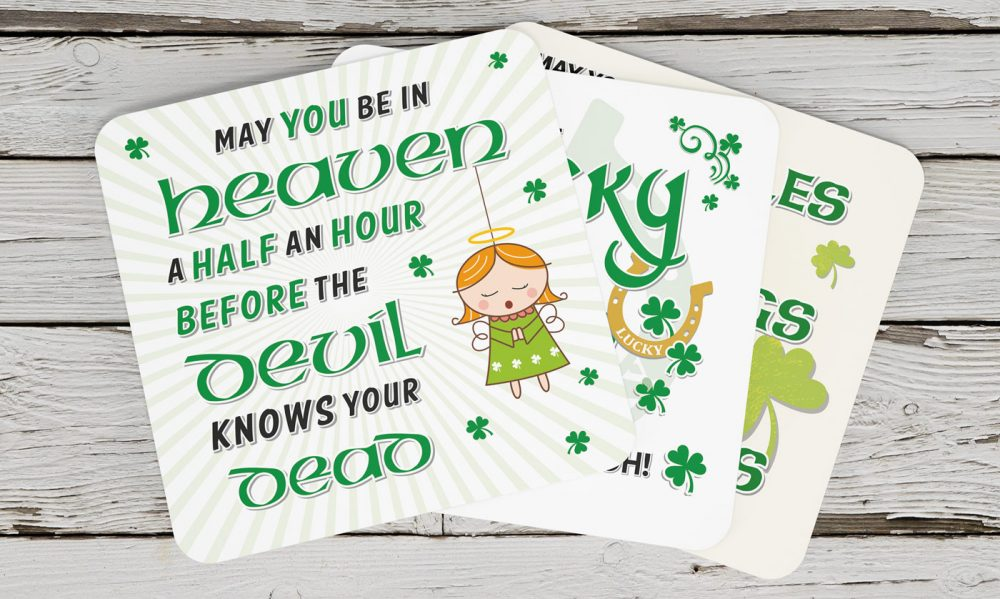 JLM Gifts Blessings & Blarney Range Coasters